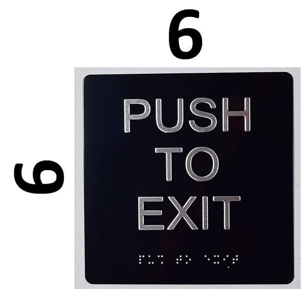 Push to EXIT Sign - The Sensation line -Tactile Signs  Braille sign