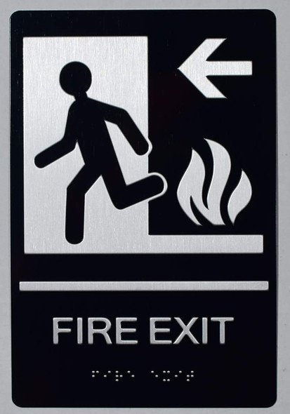ADA FIRE EXIT LEFT SIGN
