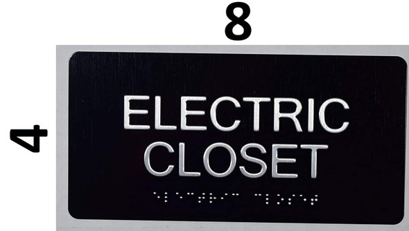 Electric Closet Sign- The Sensation line -Tactile Signs  Braille sign