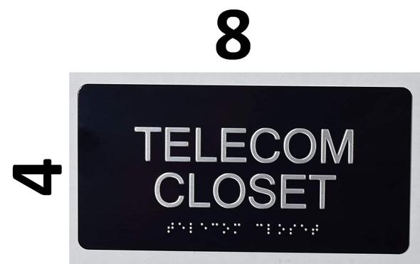 Telecom Closet Sign -Tactile Signs-The Sensation line  Braille sign