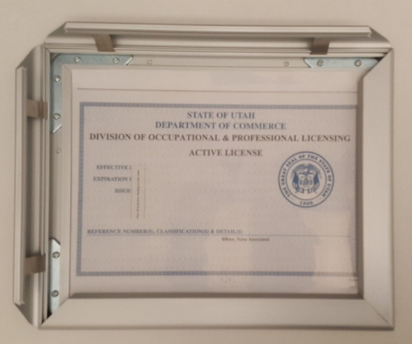 Business license frame Virginia 8.5x11 ( Heavy Duty)