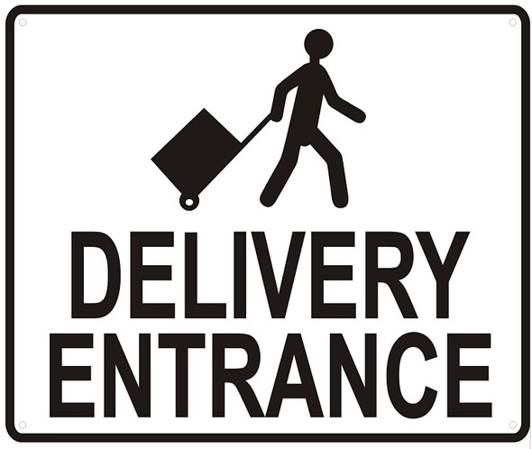 DELIVERY ENTRANCE Sign-WITH IMAGE