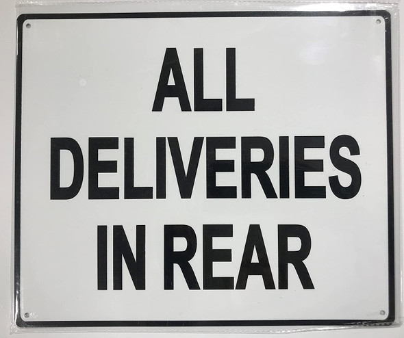 ALL DELIVERIES IN REAR Signage-WITHOUT IMAGE