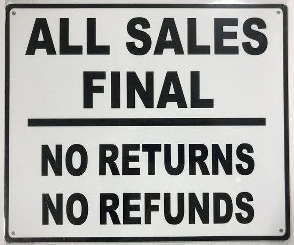 ALL SALES FINAL Signage