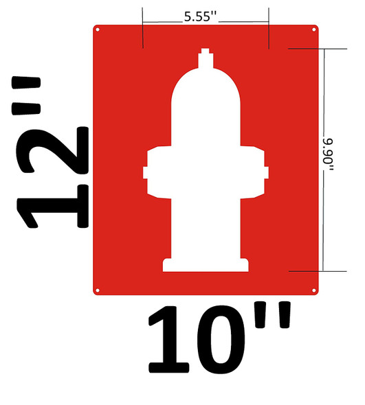 Fire Hose Hydrant Signage in.with [Graphic Only] Fire Hydrant Symbol