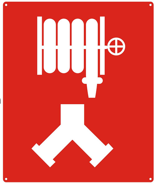 Standpipe Connection Sign / Standpipe Connection symbol Sign