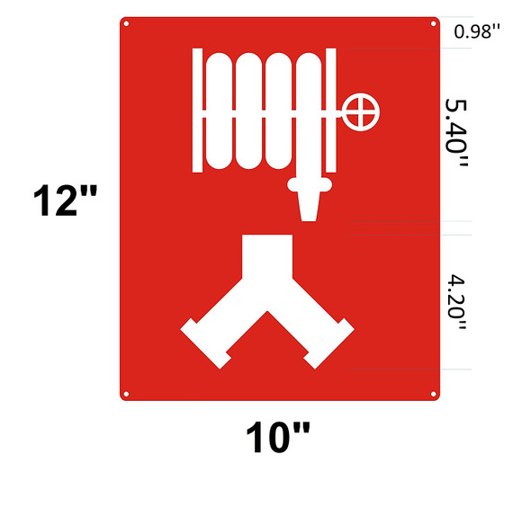 Standpipe Connection Signage / Standpipe Connection symbol Signage