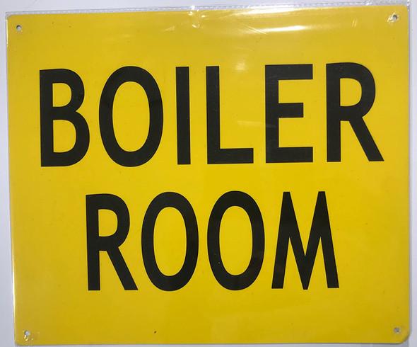 Boiler Room SIGNAGE - Yellow (Aluminium ! SIGNAGEs, RED )