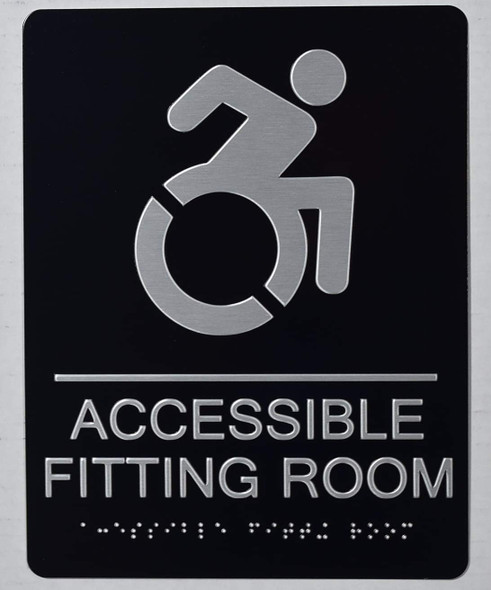 ACCESSIBLE Fitting Room Sign -Tactile Signs-The Sensation line  Braille sign