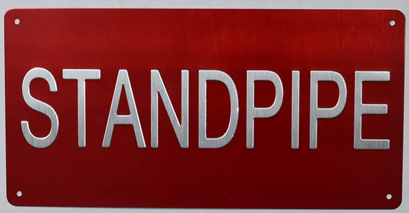 Standpipe Sign -Tactile Signs  standpipe raised letter sign -The Sensation line  Braille sign