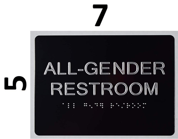 All Gender Restroom Sign -Tactile Signs  The Sensation line  Braille sign