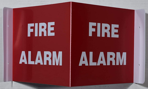 FIRE ALARM SIGN 2D projection signs / 2d hallway sign is printed on both sides for easy viewing.