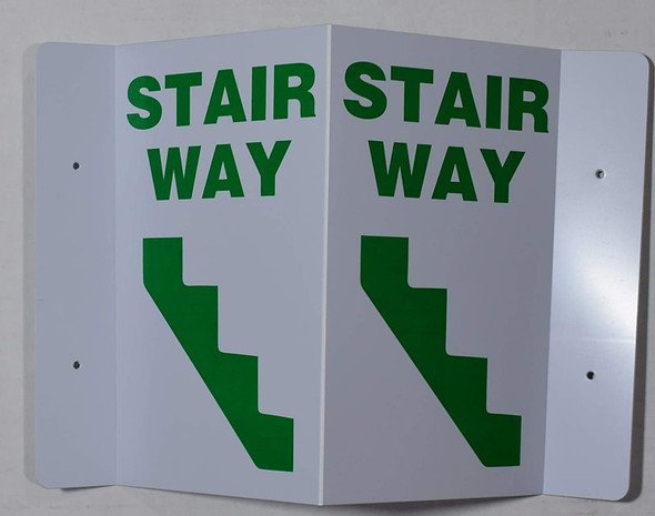 STAIRWAY 2D projection signs / 2d hallway sign is printed on both sides for easy viewing.