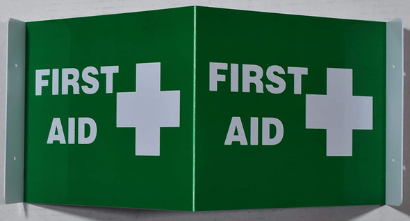 First Aid 3D Projection Sign/First Aid Hallway Sign -Les Deux cotes line