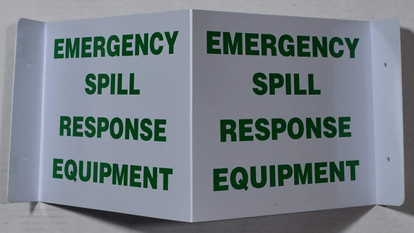 Emergency Spill Response Equipment 3D Projection Sign/Emergency Spill Response Equipment Hallway Sign