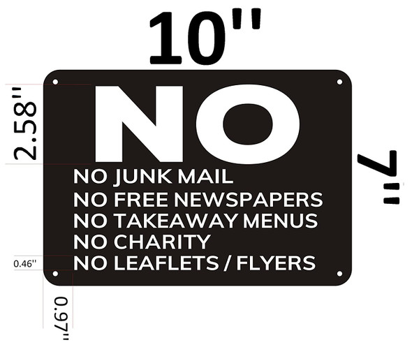 No Junk Mail Signage