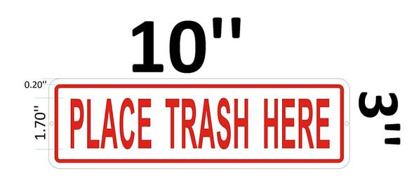 Place Trash HERE Signage-Trash Signage