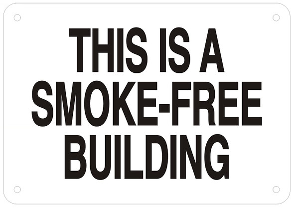 THIS IS A SMOKE-FREE BUILDING SIGN.