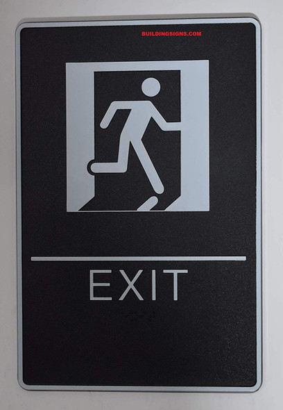 ADA EXIT Sign with Tactile Graphic - Tactile Signs  The Standard ADA line  Braille sign