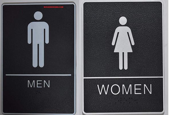 ADA MEN & WOMEN Restroom Sign.