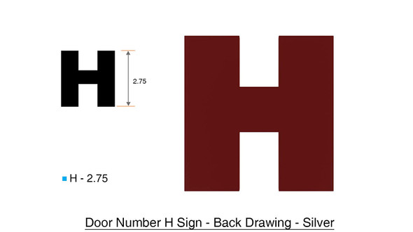 Apartment Number Letter H