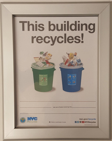 Recycles notice frame