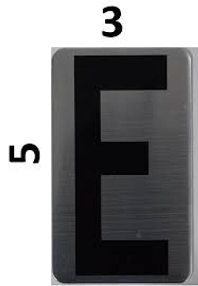 House Number Letter  Letter E