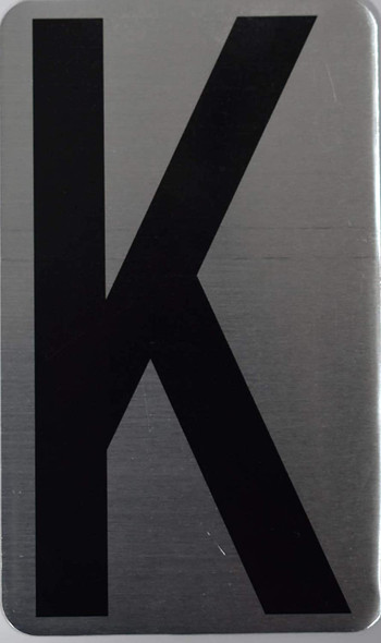 House Number Letter Sign/Apartment Number Letter Sign- Letter K