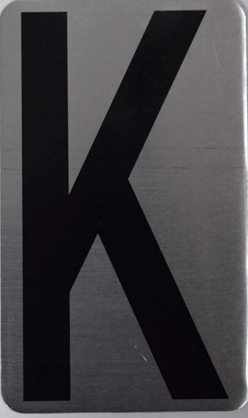 House Number Letter  Letter K