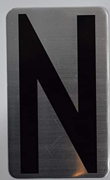 House Number Letter Sign/Apartment Number Letter Sign- Letter N