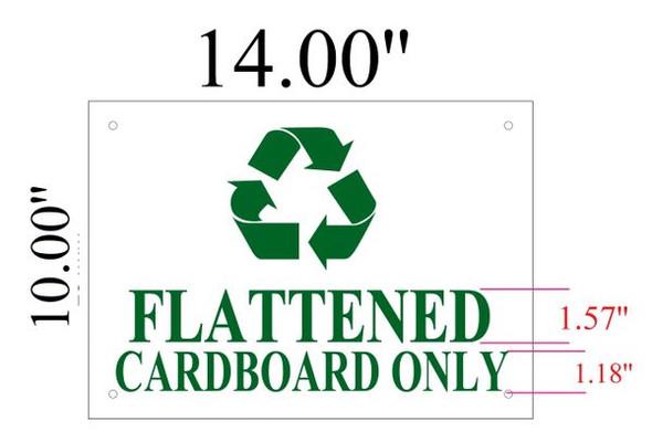 FLATTENED CARDBOARD ONLY SIGNAGE  WHITE ALUMINUM