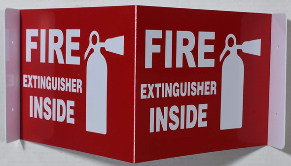 Fire Extinguisher Inside Sign 3D Projection Sign/Fire Extinguisher Inside Sign Hallway Sign