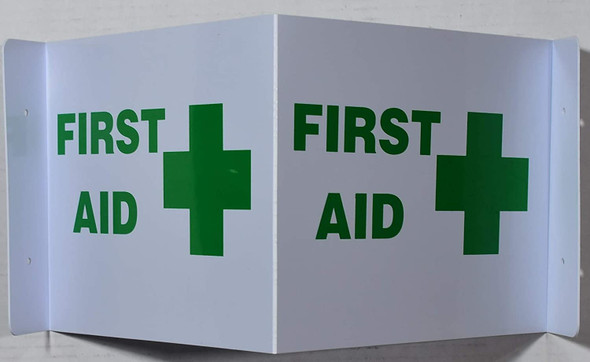 First AID 3D Sign Projection Sign/First AID Sign Hallway Sign -Les Deux cotes line