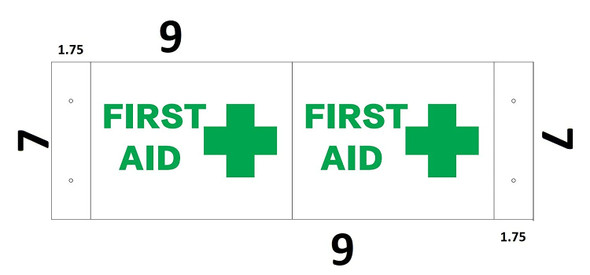 First AID 3D SIGNAGE Projection SIGNAGE/First AID SIGNAGE Hallway SIGNAGE -Les Deux cotes line