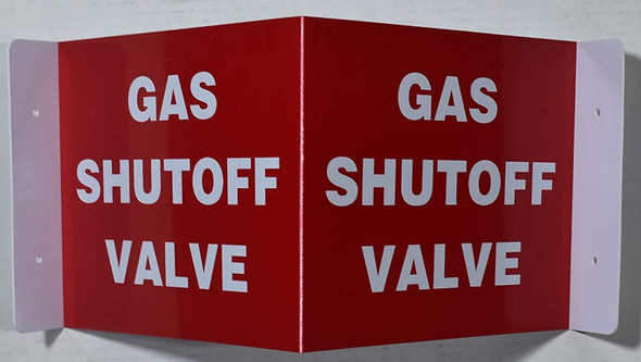Gas Shut Off Valve 3D Projection Sign/Gas Shut Off Valve Sign Hallway Sign