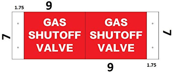 Gas Shut Off ValveD Projection Signage/Gas Shut Off Valve Signage Hallway Signage