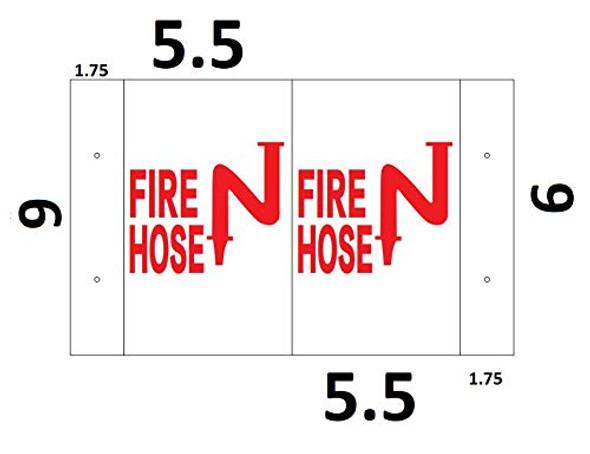 FIRE Hose 3D Projection Sign/FIRE Hose Hallway Sign