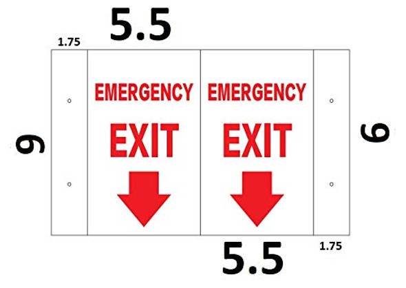 Emergency EXIT Arrow DownD Projection Signage/FIRE Extinguisher Hallway Signage