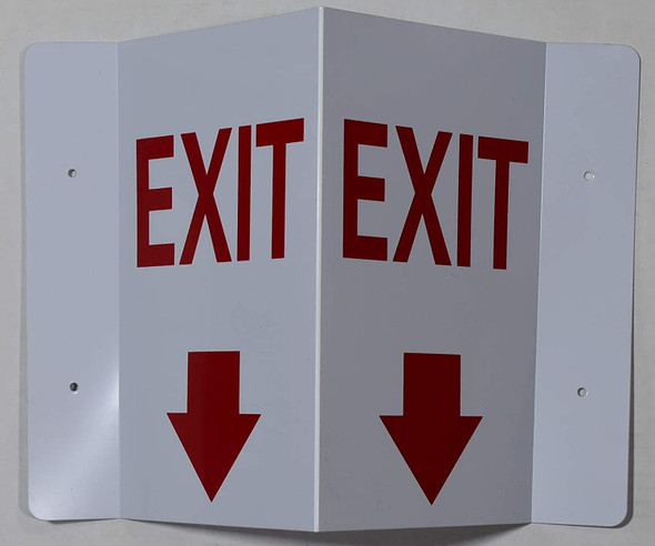 EXIT Arrow DownD Projection Sign/EXIT Arrow Down Hallway Sign