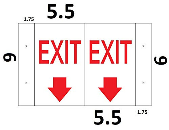 EXIT Arrow Down 3D Projection Sign/EXIT Arrow Down Hallway Sign