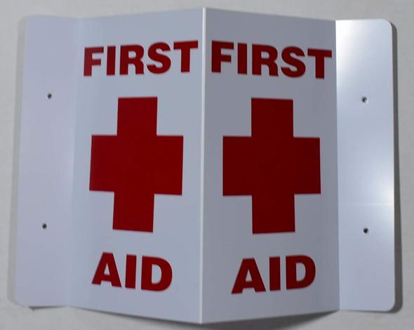 First AID 3D Projection Sign/FIRE Hose Hallway Sign -Les Deux cotes line