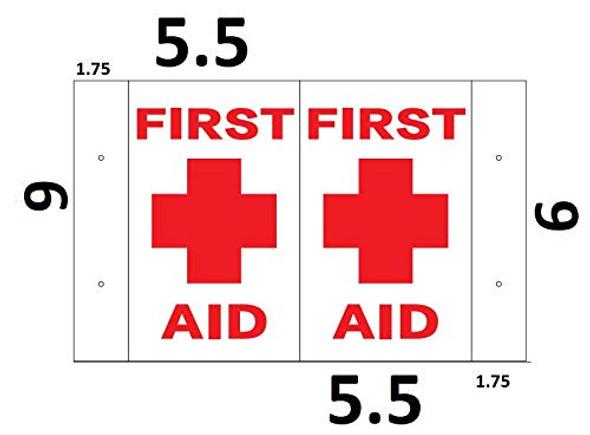 First AID 3D Projection SIGNAGE/FIRE Hose Hallway SIGNAGE -Les Deux cotes line