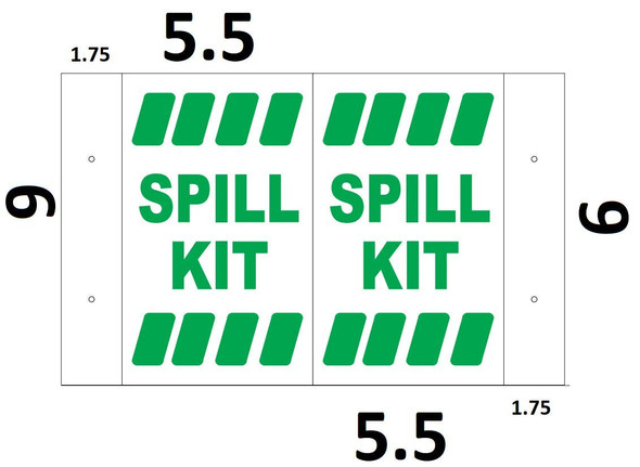 Spill KIT 3D Projection Sign/Spill KIT Hallway Sign