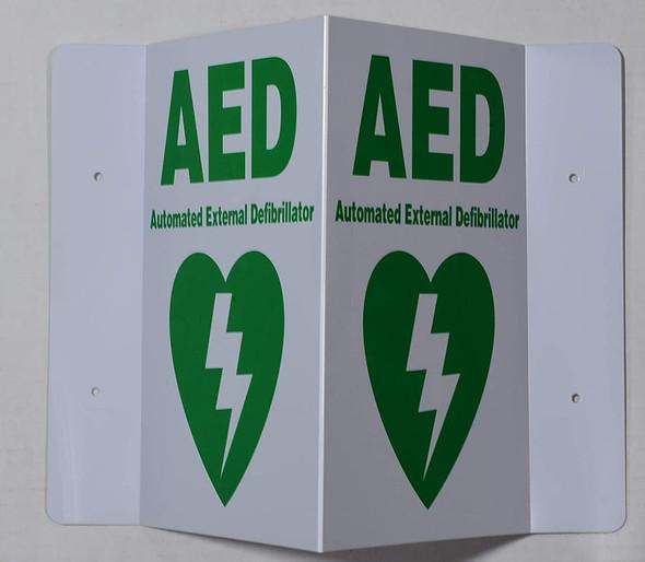 AED 3D Projection Sign/AED Hallway Sign -Les Deux cotes line