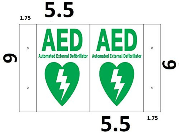 AED 3D Projection Sign/AED Hallway Sign