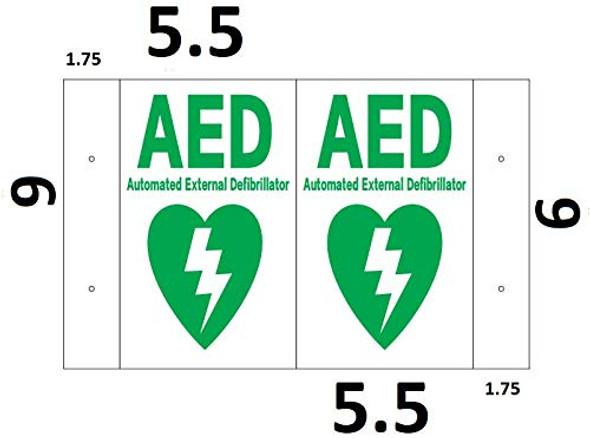 AED 3D Projection SIGNAGE/AED Hallway SIGNAGE -Les Deux cotes line