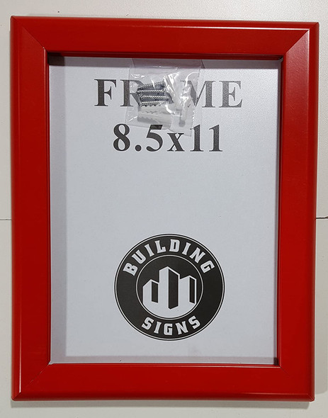 Bulletin Frame 8.5x11 Inches Front Loading Quick Poster Change, Wall Mounted, HEAVY DUTY (red)