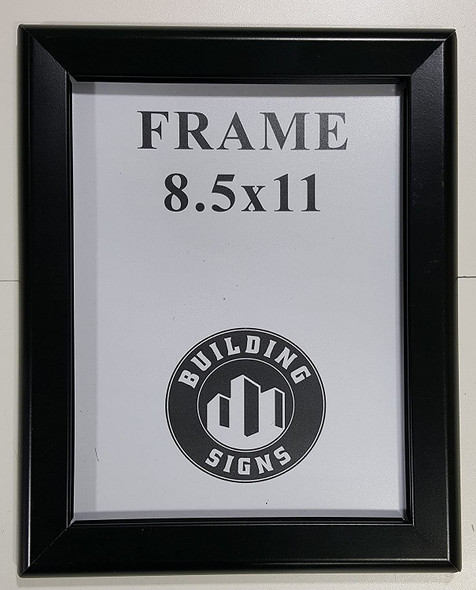 Black Snap Frame 8.5x11 Inches Front Loading Quick Poster Change