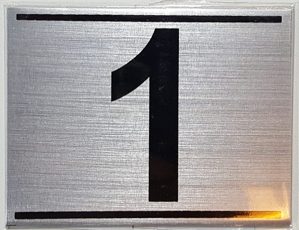 APARTMENT Number Sign ONE (1)