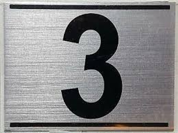 APARTMENT NUMBER THREE (3) SIGN